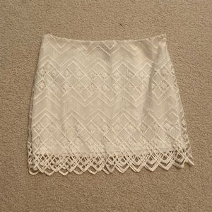 White lace F21 skirt. Size small